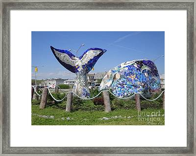 Rock Whale Framed Print by Laurence Oliver