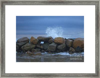 Rock Window Framed Print
