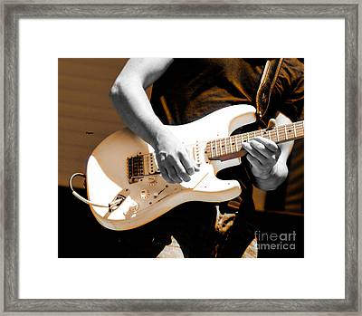 Rockabilly In Three Course Blues Framed Print by Steven Digman