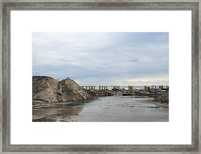 Rockaway Beach After Hurricane Sandy 4 Framed Print