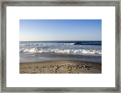 Rockaway Beach Morning Shoreline Framed Print