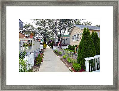 Rockaway Point Lane View 2 Summer 2012 Framed Print
