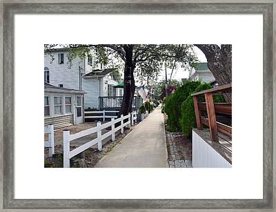 Rockaway Point Walk Summer 2012 Framed Print