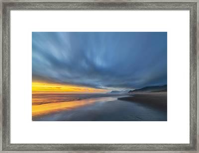 Rockaway Sunset Bliss Framed Print