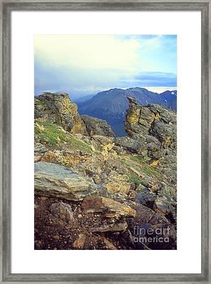 Rockcut In Rocky Mtn National Park Framed Print