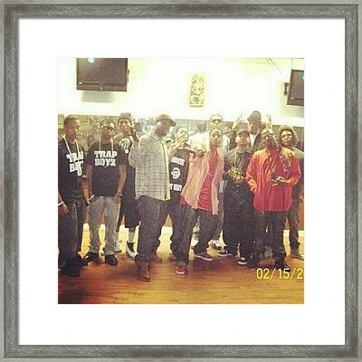 Rocked The Stage With @kingkulin ,young Framed Print