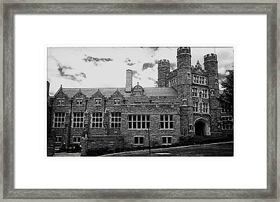 Rockefeller Hall - Bryn Mawr In Black And White Framed Print by Georgia Fowler