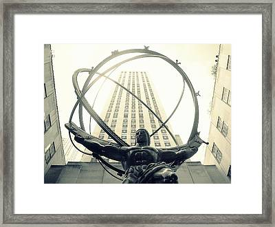 'rockefeller Center And Atlas' Framed Print