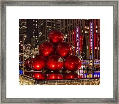 Rockefeller Center Cheer Framed Print by Susan Candelario