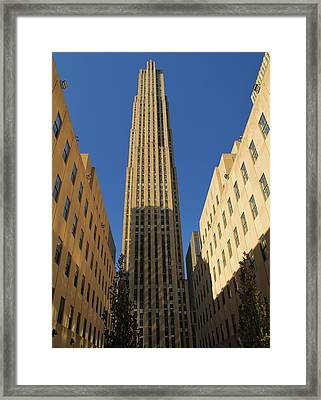 Ge Building  Framed Print by Dan Sproul