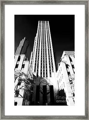 Rockefeller Center Framed Print by John Rizzuto