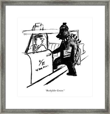 Rockefeller Center Framed Print by Warren Miller