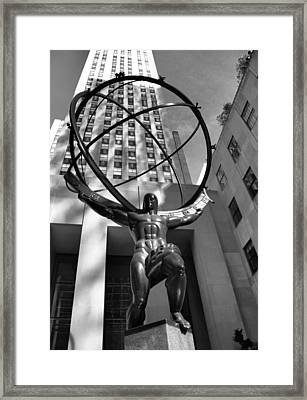 Atlas In Black And White Framed Print by Dan Sproul
