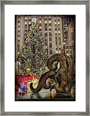 Rockefeller Maiden Statue Framed Print