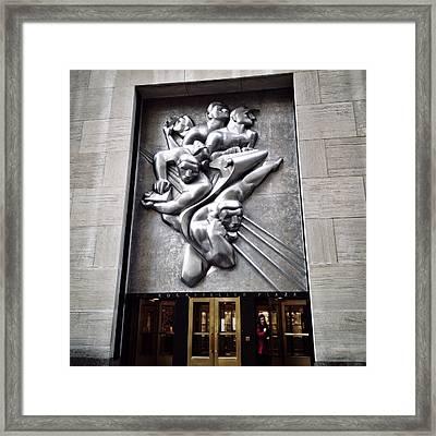 Rockefeller News Framed Print