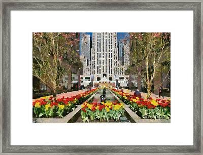 Rockefeller Plaza Framed Print by George Atsametakis