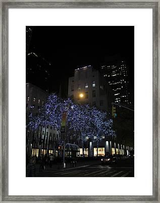 Rockefeller Plaza Lights Framed Print