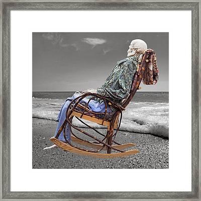 Rocker Rocking On Framed Print by Betsy Knapp