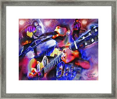 Framed Print featuring the painting Rocker by Ted Azriel