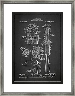 Rocket Apparatus Patent Framed Print by Aged Pixel