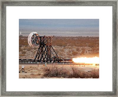 Rocket-sled Test Framed Print by Nasa