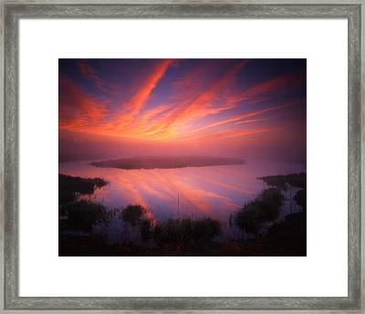 Rockets Red Glare Framed Print by Ray Mathis