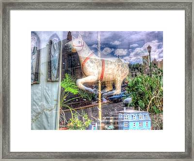 Framed Print featuring the photograph Rockey's Horse by Lanita Williams