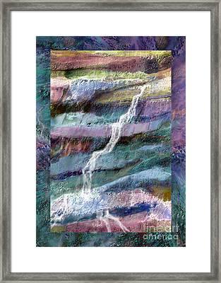 Rockface Framed Print by Ursula Freer