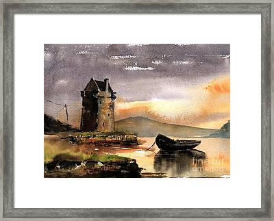 Rockfleet Castle In Mayo Framed Print