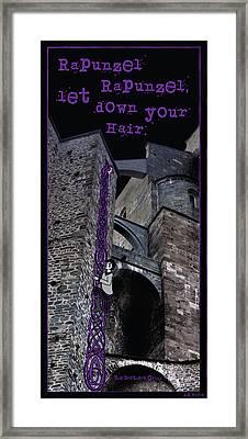 Rockin' Raven Celtic Rapunzel Framed Print