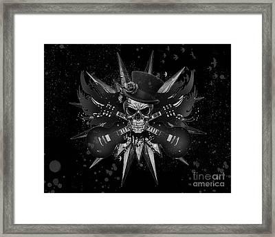 Rockin Skull Design Framed Print by Suzi Nelson