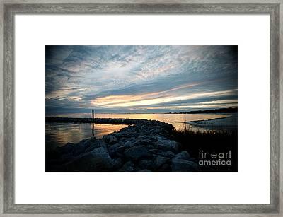 Rockin Sundown Framed Print
