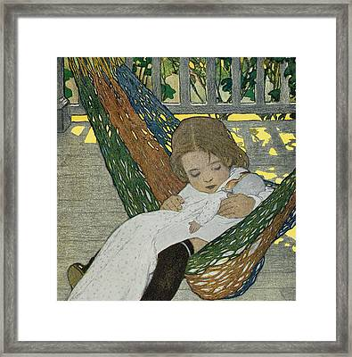 Rocking Baby Doll To Sleep Framed Print by Jessie Willcox Smith