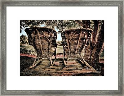 Rocking Chairs Framed Print