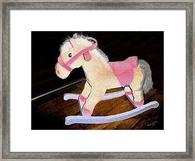 Rocking Horse Framed Print by Brandy Nicole Neal