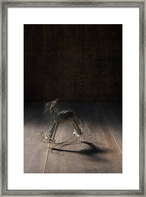 Rocking Horse With Blur Framed Print