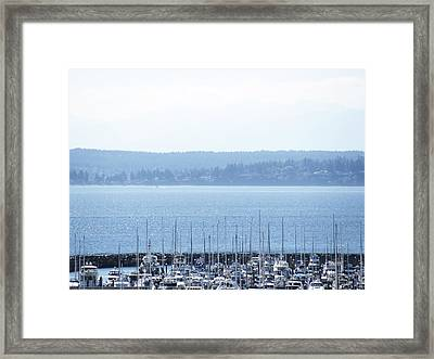 Rocking In The Puget Sound Framed Print