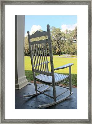 Rocking On The Front Porch Framed Print by William Tucker