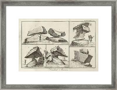 Rocking Stone Framed Print