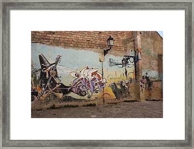 Rocking Witch Framed Print by Jan Katuin