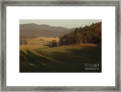Rockingham County Virginia Meadow Framed Print