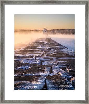 Rockland Breakwater Lighthouse Framed Print by Benjamin Williamson
