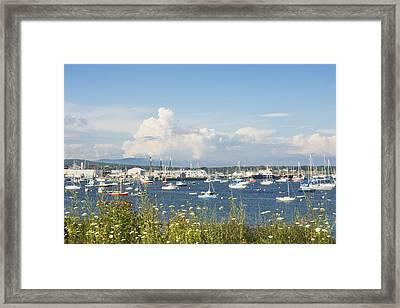 Rockland Harbor On The Coast Of Maine Framed Print by Keith Webber Jr