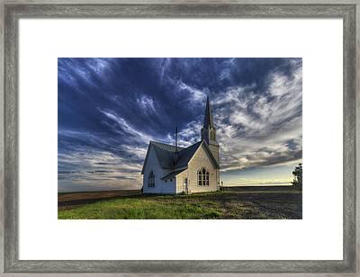 Rocklyn Zion German Methodist Church Framed Print by Mark Kiver