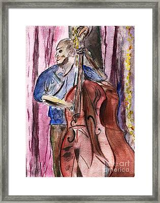 Dancn' Double Bass  Framed Print by Elizabeth Briggs
