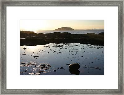 Rockpool Sunset Framed Print by Fraser McCulloch