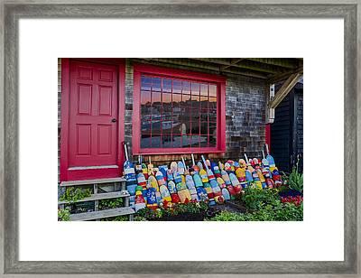 Rockport Buoys Framed Print by Susan Candelario
