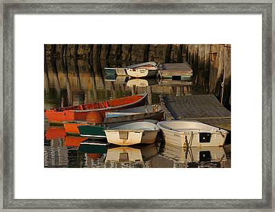 Rockport Dinghies Framed Print by Juergen Roth