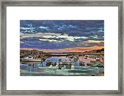 Rockport Dusk Framed Print by Joann Vitali