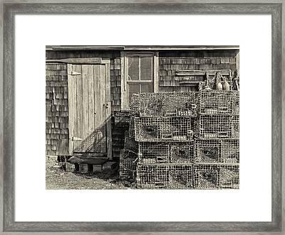 Rockport Fishing Shack Framed Print